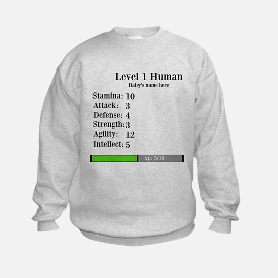 Level 1 Human [Personalize] Sweatshirt