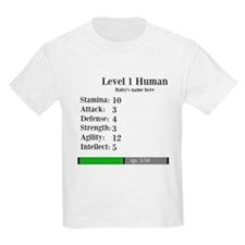 Level 1 Human [Personalize] T-Shirt