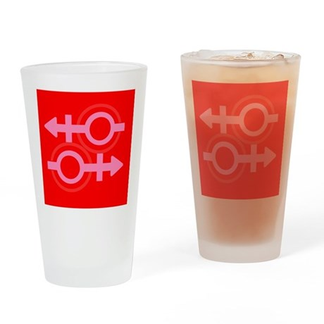 RED EQUAL SIGN Pro Gay Drinking Glass
