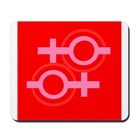 RED EQUAL SIGN Pro Lesbian Mousepad