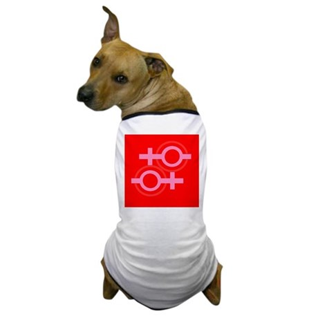 RED EQUAL SIGN Pro Lesbian Dog T-Shirt