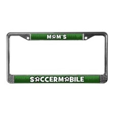 Mom's Soccermobile License Plate Frame