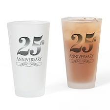 25 Year Anniversary Drinking Glass