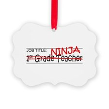 Job Ninja 1st Grade Ornament