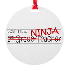 Job Ninja 1st Grade Ornament