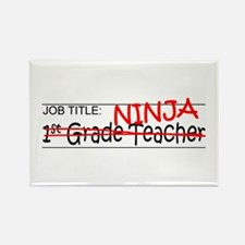 Job Ninja 1st Grade Rectangle Magnet