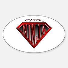 Cyber-Ninja(Red) Oval Decal