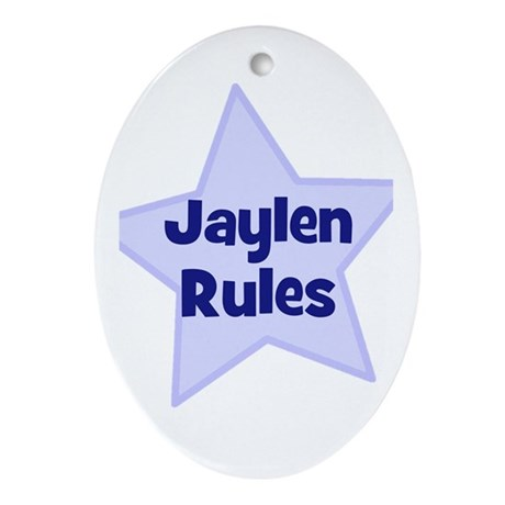 Jaylen Rules Oval Ornament