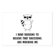 Raccoons Mock Postcards (Package of 8)