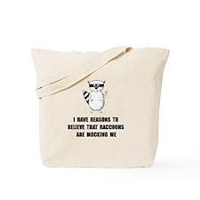 Raccoons Mock Tote Bag
