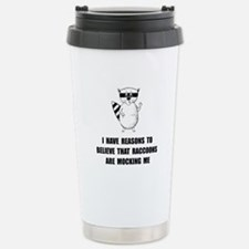 Raccoons Mock Travel Mug