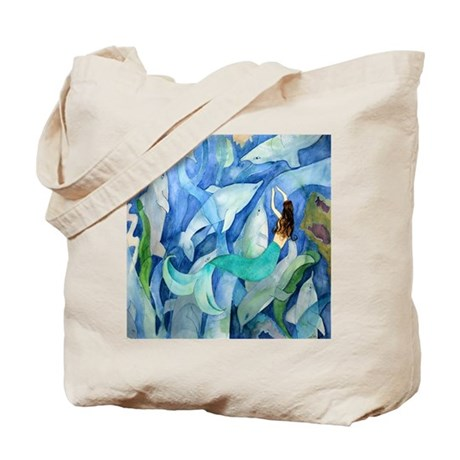 Dolphin Mermaid Party Tote Bag