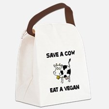 Save Cow Vegan Canvas Lunch Bag