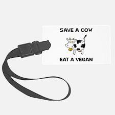 Save Cow Vegan Luggage Tag