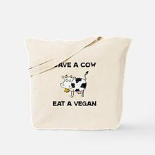 Save Cow Vegan Tote Bag