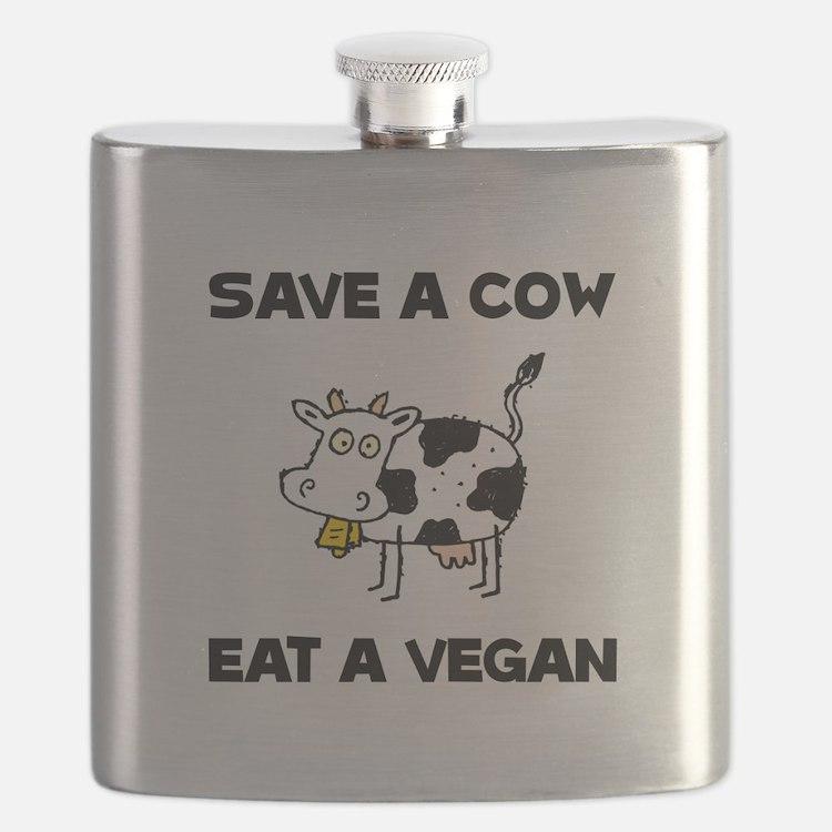 Save Cow Vegan Flask