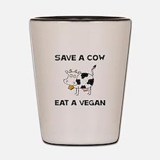 Save Cow Vegan Shot Glass