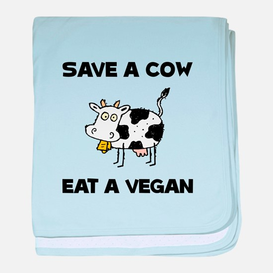 Save Cow Vegan baby blanket