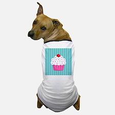 Pink Cupcake on Blue Dog T-Shirt