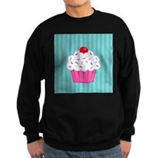 Pink Cupcake on Blue Sweatshirt
