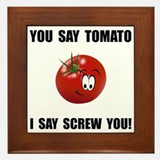 Say Tomato Framed Tile