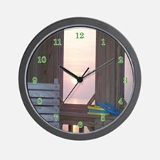 Sunset and Horseshoes Wall Clock