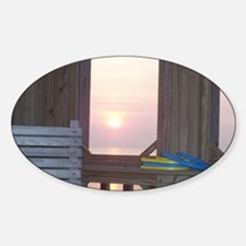 Sunset and Horseshoes Sticker (Oval 10 pk)
