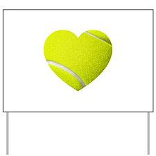 Tennis Heart Yard Sign