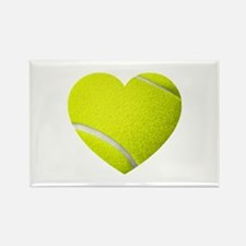Tennis Heart Rectangle Magnet (10 pack)