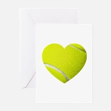 Tennis Heart Greeting Cards (Pk of 10)