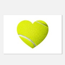 Tennis Heart Postcards (Package of 8)