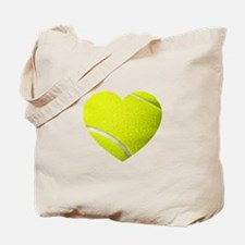 Tennis Heart Tote Bag