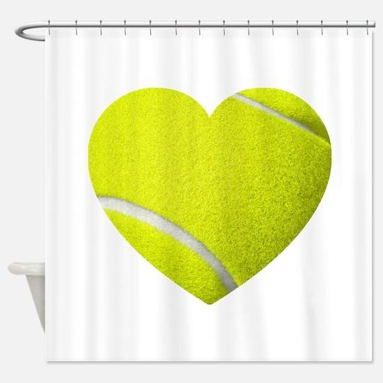 Tennis Heart Shower Curtain