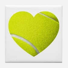 Tennis Heart Tile Coaster