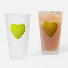 Tennis Heart Drinking Glass
