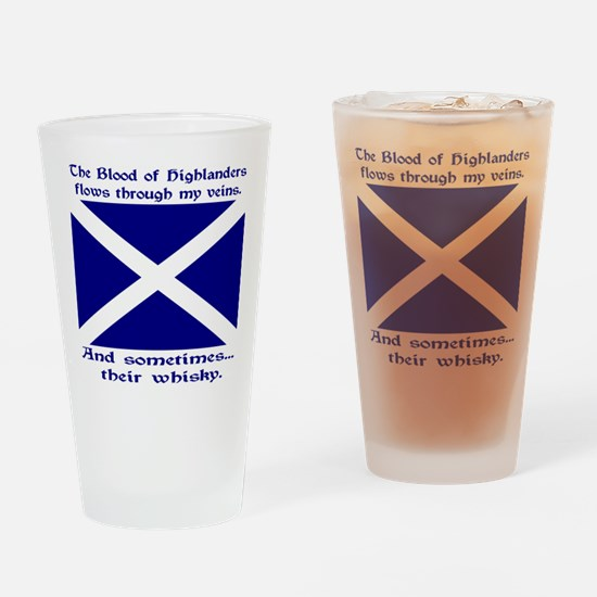 Scottish Blood Whisky St Andrew Drinking Glass