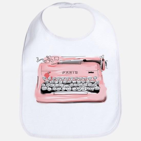 Paris Typewriter Bib