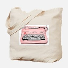 Paris Typewriter Tote Bag