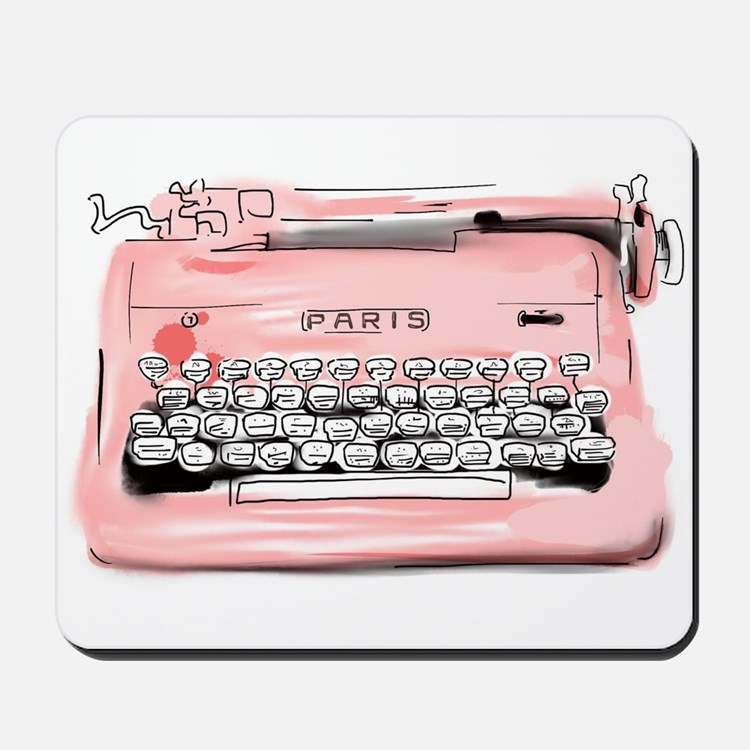 Paris Typewriter Mousepad
