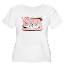 Paris Typewriter Plus Size T-Shirt