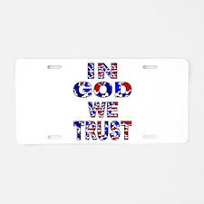 In God camo Aluminum License Plate