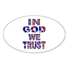 In God camo Oval Decal
