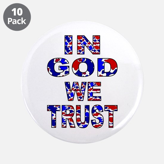"""In God camo 3.5"""" Button (10 pack)"""