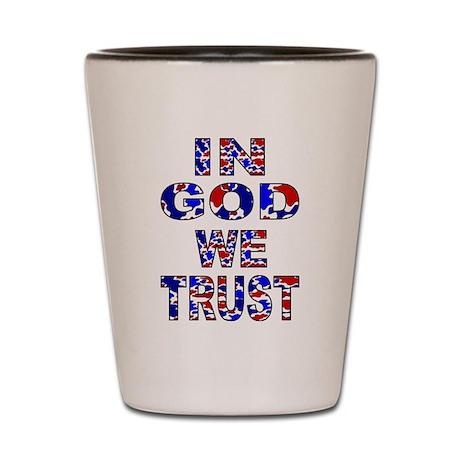 In God camo Shot Glass