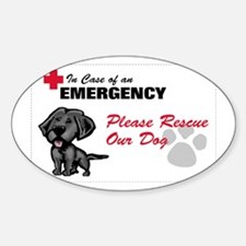 Save My Black Lab Rectangle Decal