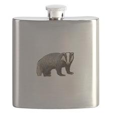 Standing Badger Flask