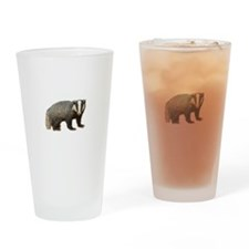 Standing Badger Drinking Glass