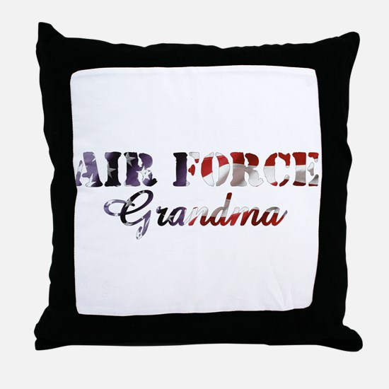 AF Grandma American Flag Throw Pillow