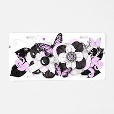 Pretty Purple Butterflies Aluminum License Plate