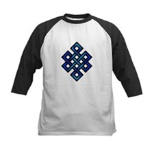 Endless Knot - Blue in Black Baseball Jersey